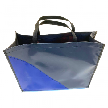 Shopper Antraciet/Blauw