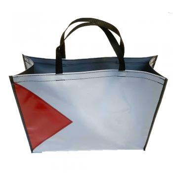 Shopper Grijs/Rood